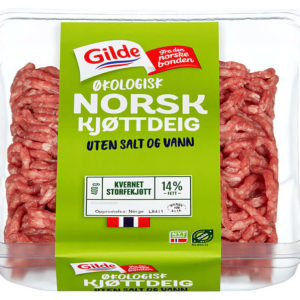 KJØTTDEIG STORFE ØKOL.14% U/SALT&VANN