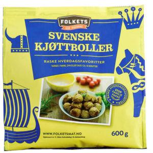KJØTTBOLLER SVENSKE 600G FOLKETS