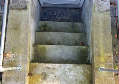 kældertrappe før efter