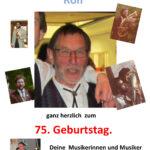75. Geburtstag unseres Ehrenvorsitzenden Rolf Fussnecker