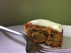 allergy friendly carrot cake with lemon cream cheese icing