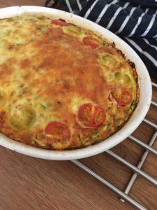 vegetarian baked omelette