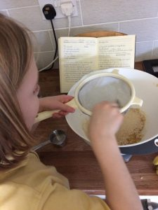 making banana millet breakfast biscuits