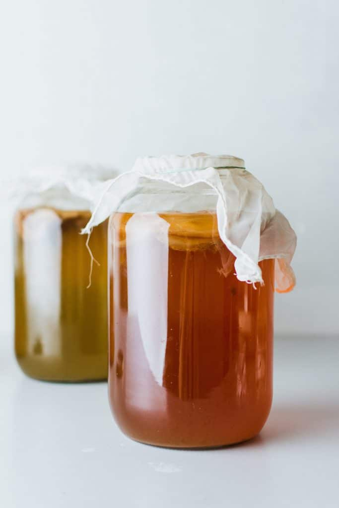 fermented foods like kombucha contain good bacteria that can help with calcium absorption