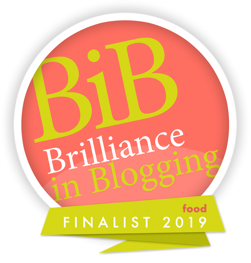 brilliance in blogging food finalist 2019