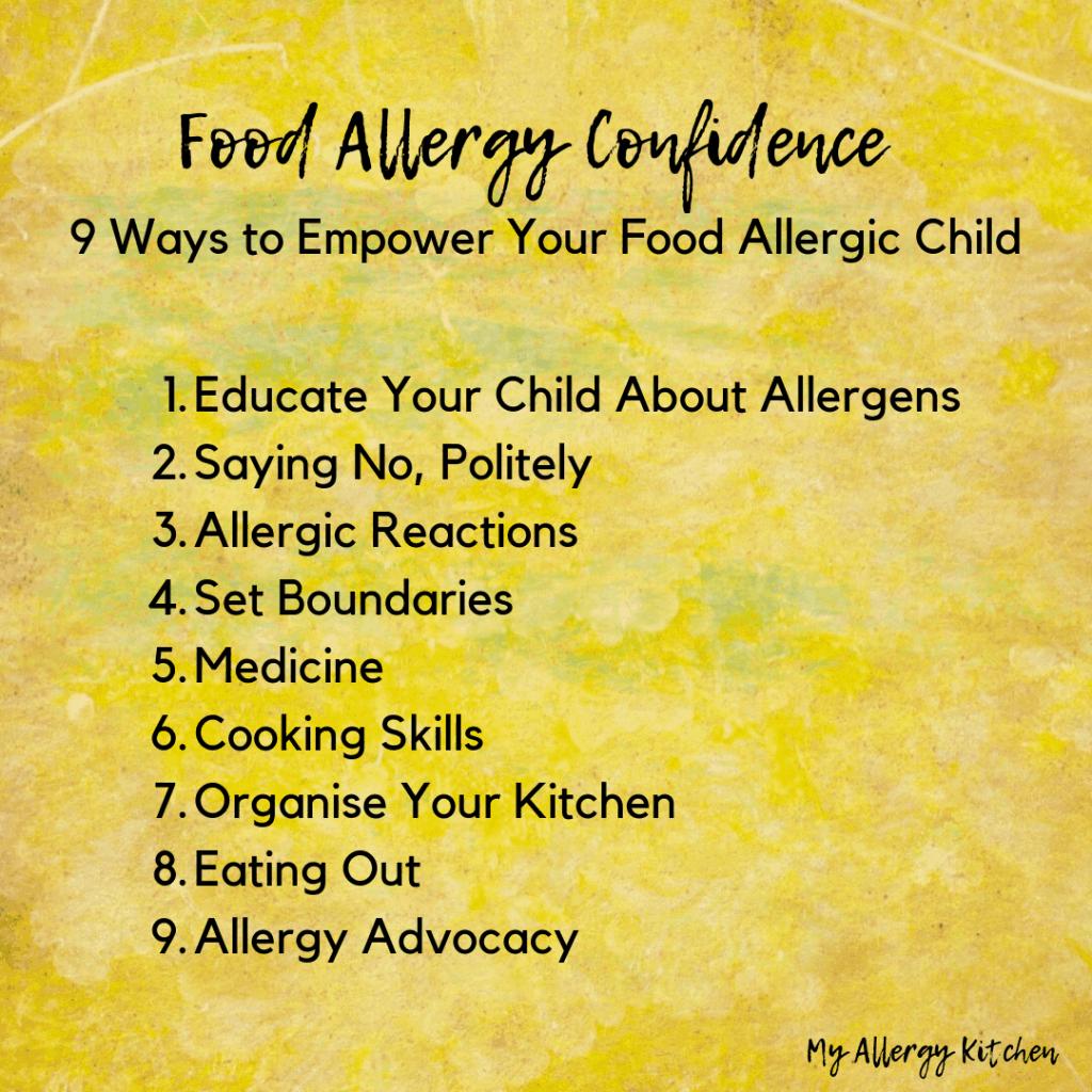 9 ways to empower your food allergic child