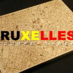 Cartes de ville de découpe et gravure laser - bruxelles - My Colors