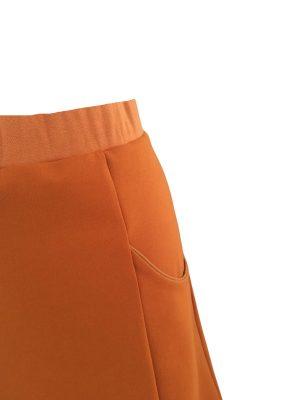 Anna nederdel i brændt orange med lommer