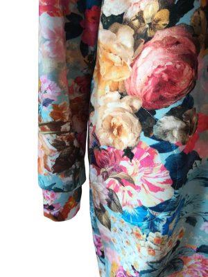 Ida kjole med rosenprint og fine lommer