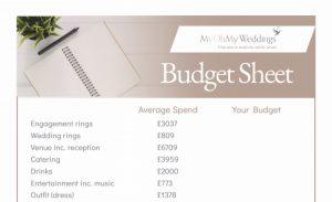 image of budget sheet