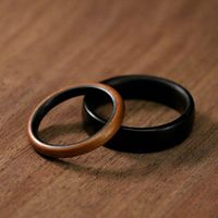 wooden wedding rings proposal