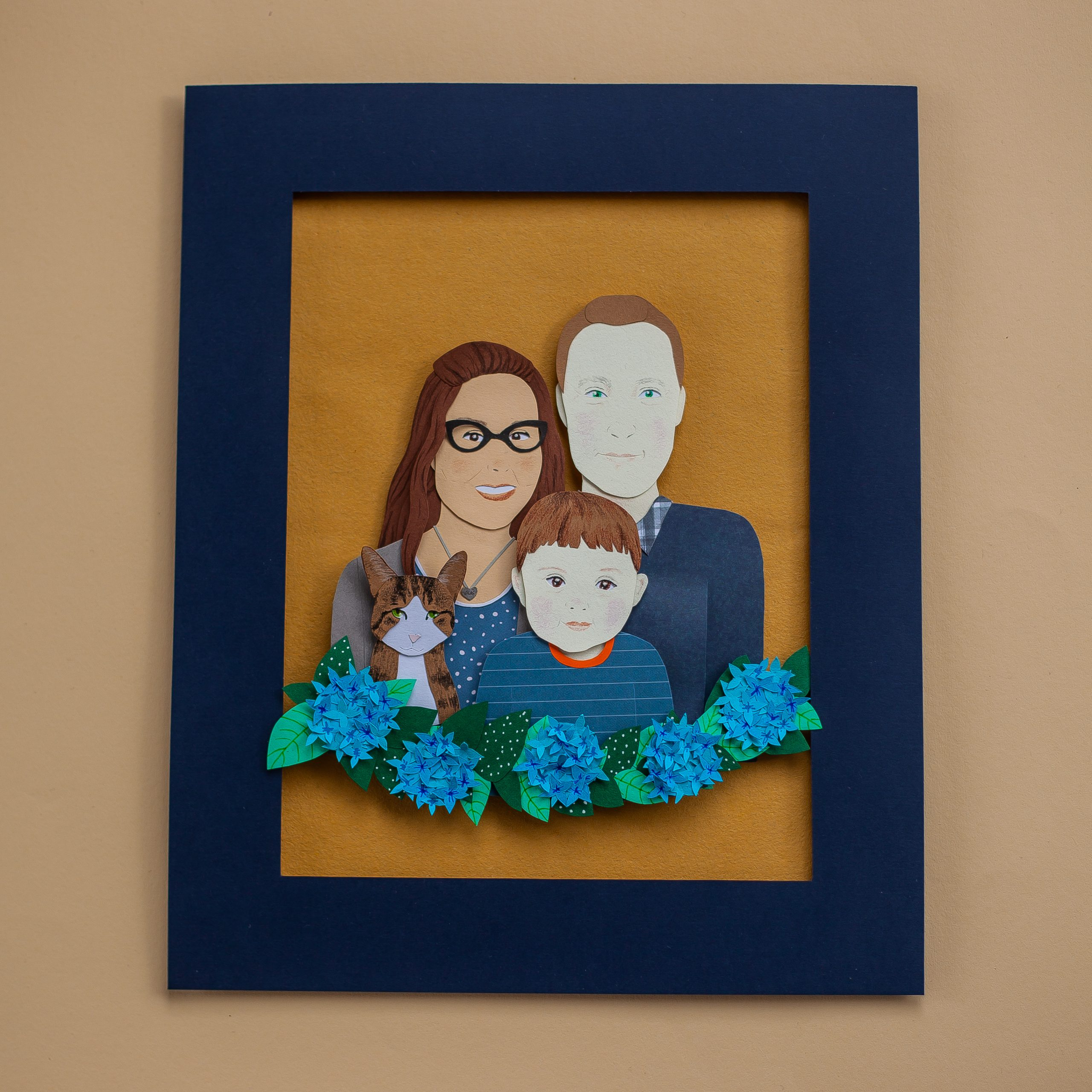 papercut portrait example 1