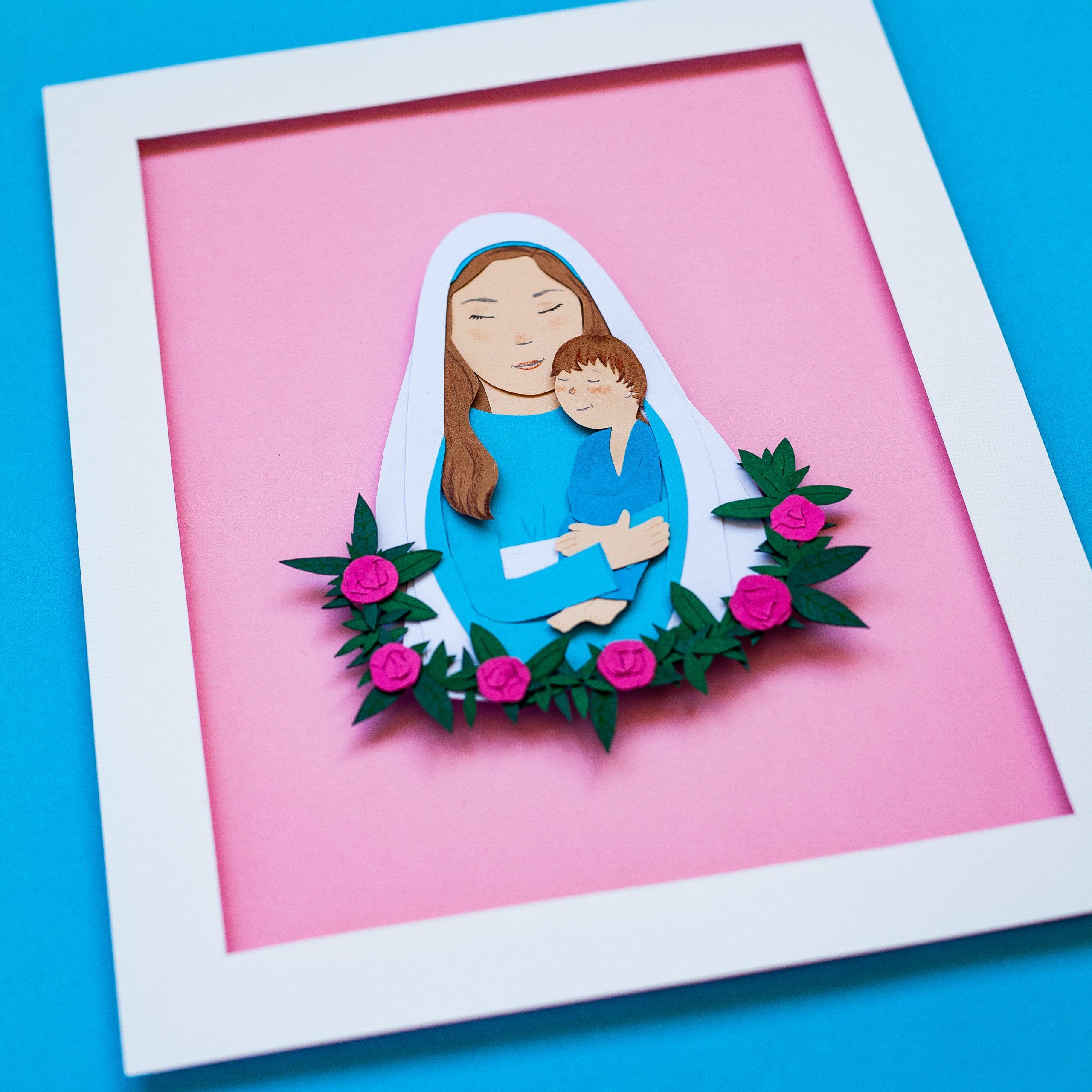 papercut portrait example