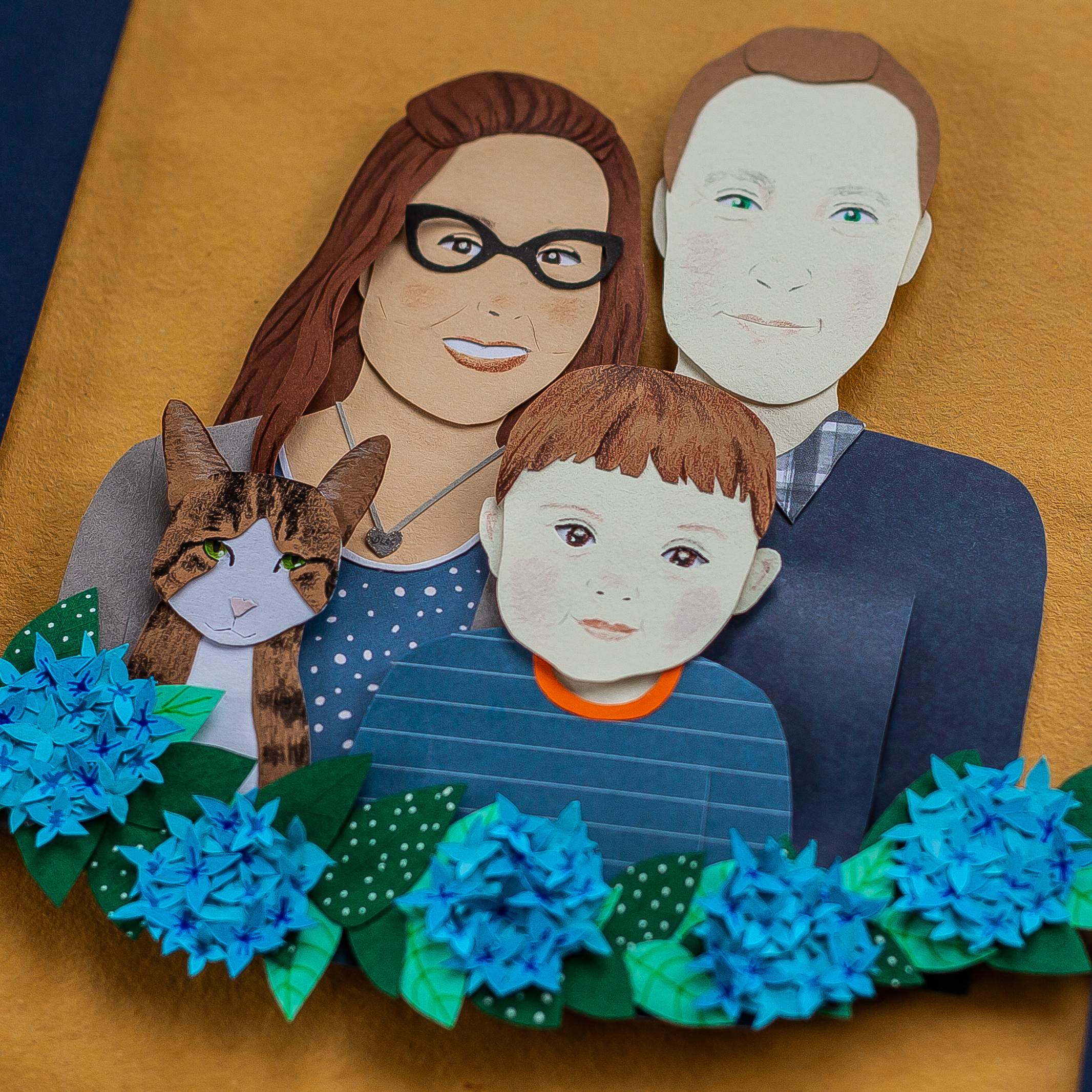 papercut portrait