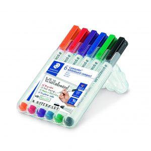6 stk. staedtler whiteboard marker