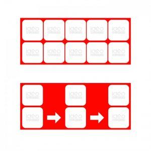Sekvens tavle 10 piktogrammer