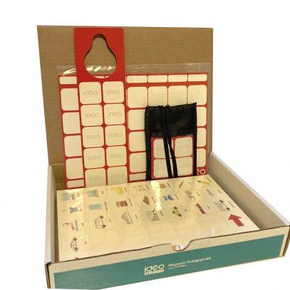 komplet pakke med 665 piktogrammer og flere magnet tavler