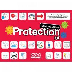 Piktogram pakke med Corona beskyttelses illustrationer