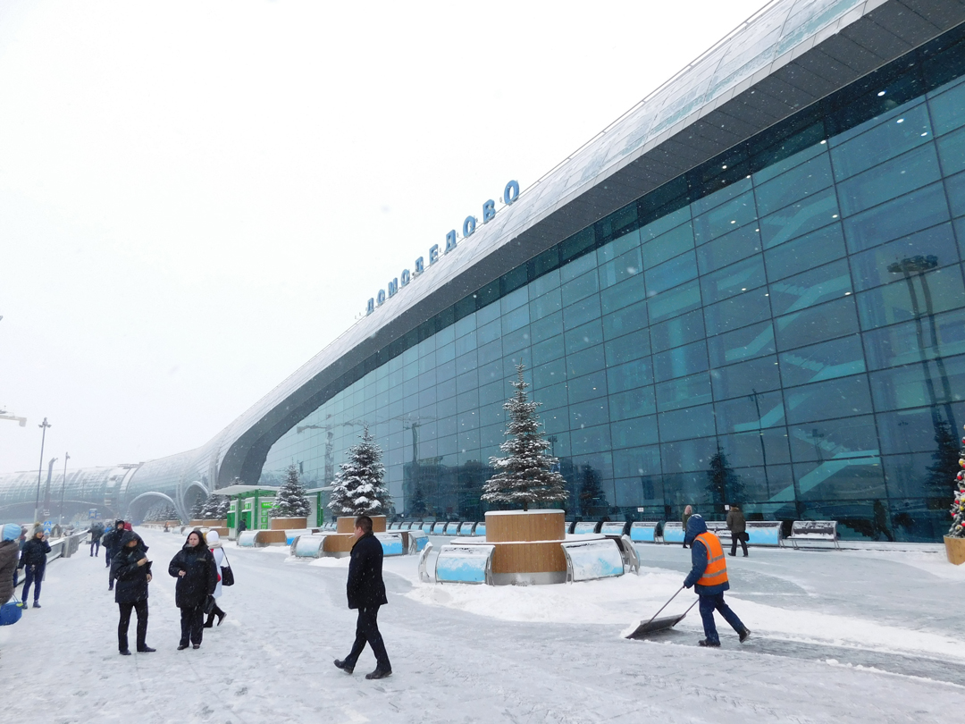 Moscow airports winterime