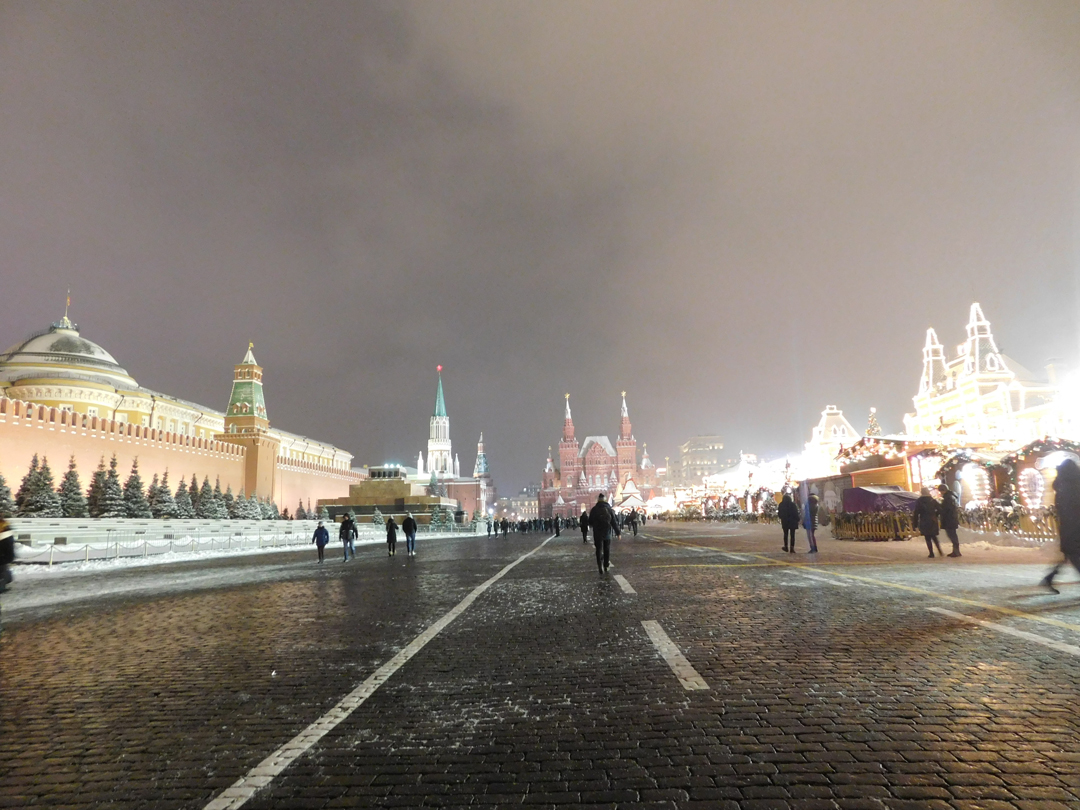 red square moscow winter