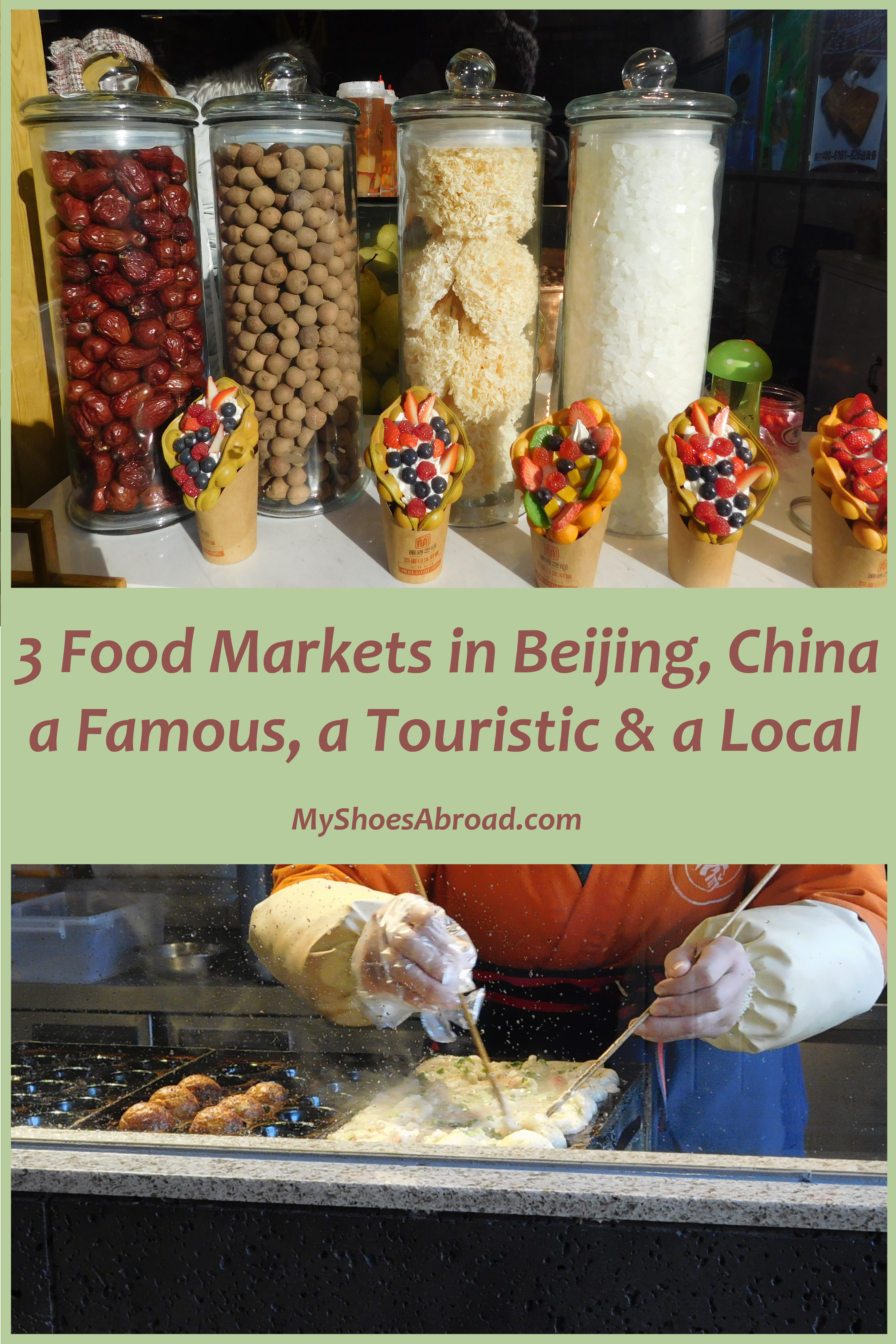 First time travelers in Beijing street food