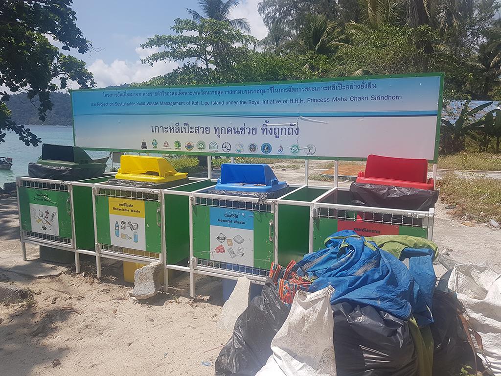 recycling in Koh Lipe