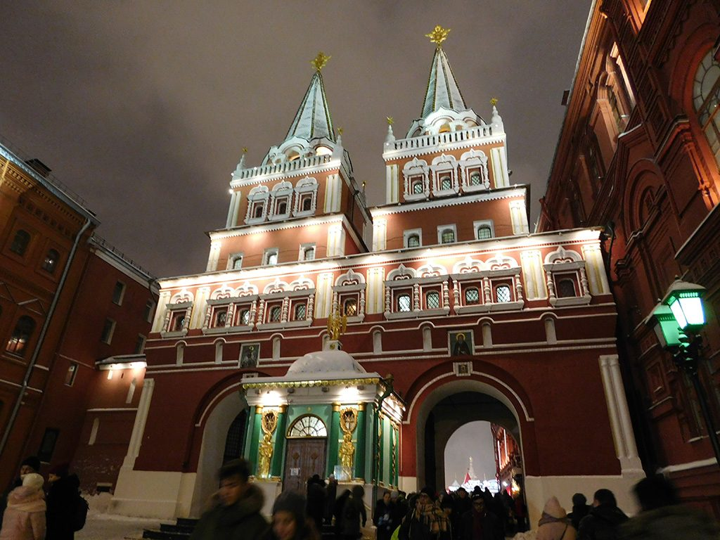 red square moscow christmas