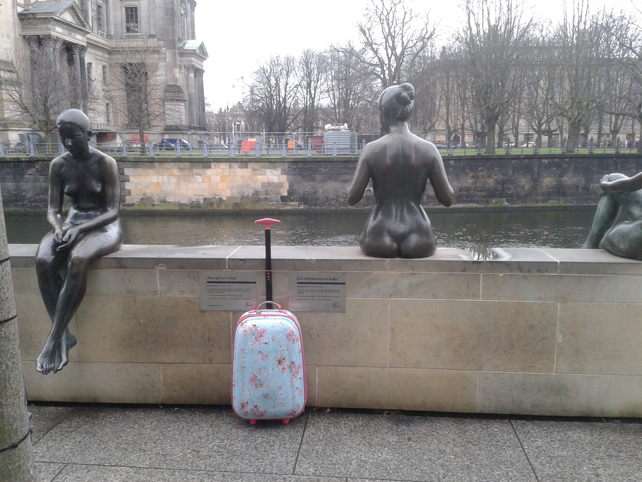 berlin suitcase colourful sculptures