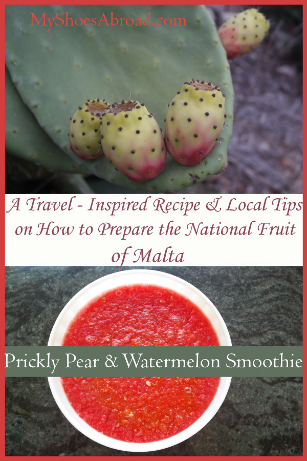 How to prepare the cactus pear that is the unofficial National fruit of Malta