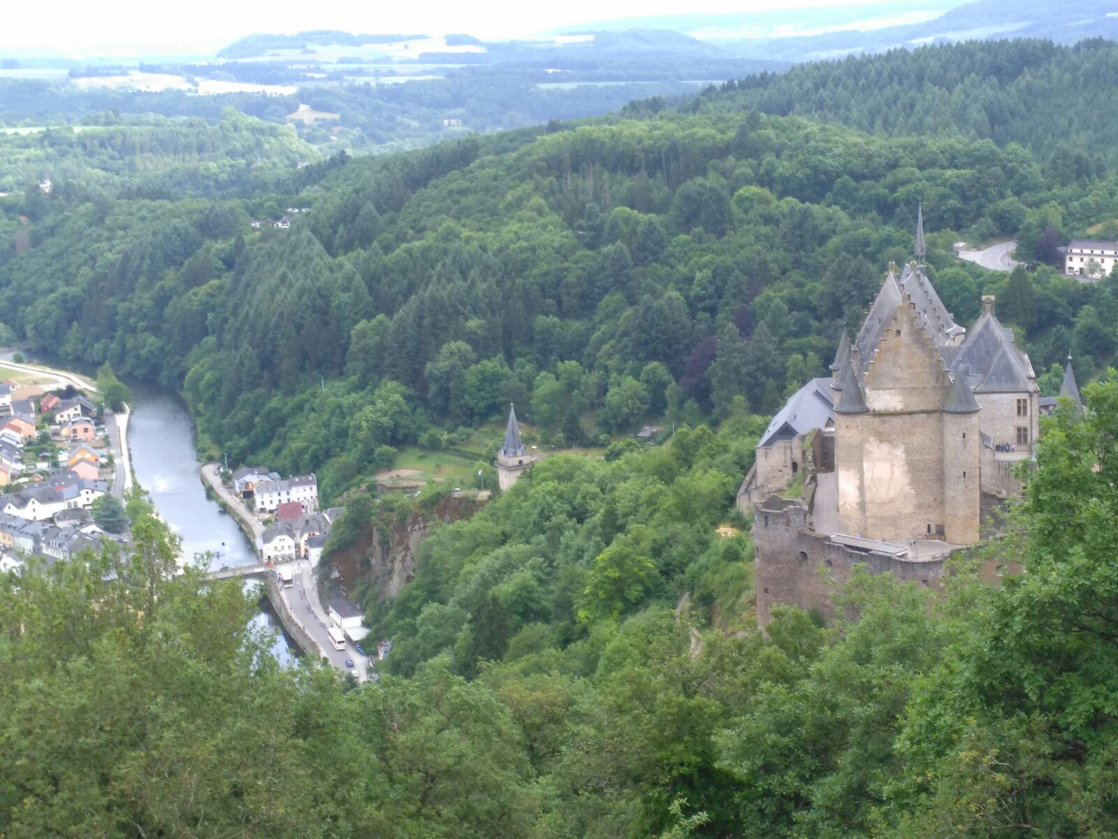 Vianden castle view
