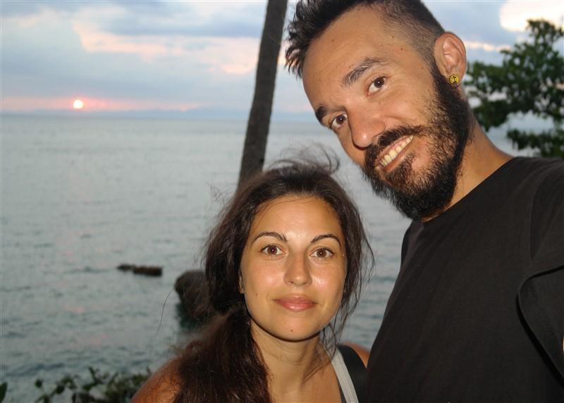 Sunset at Guisi lighthouse Guimaras