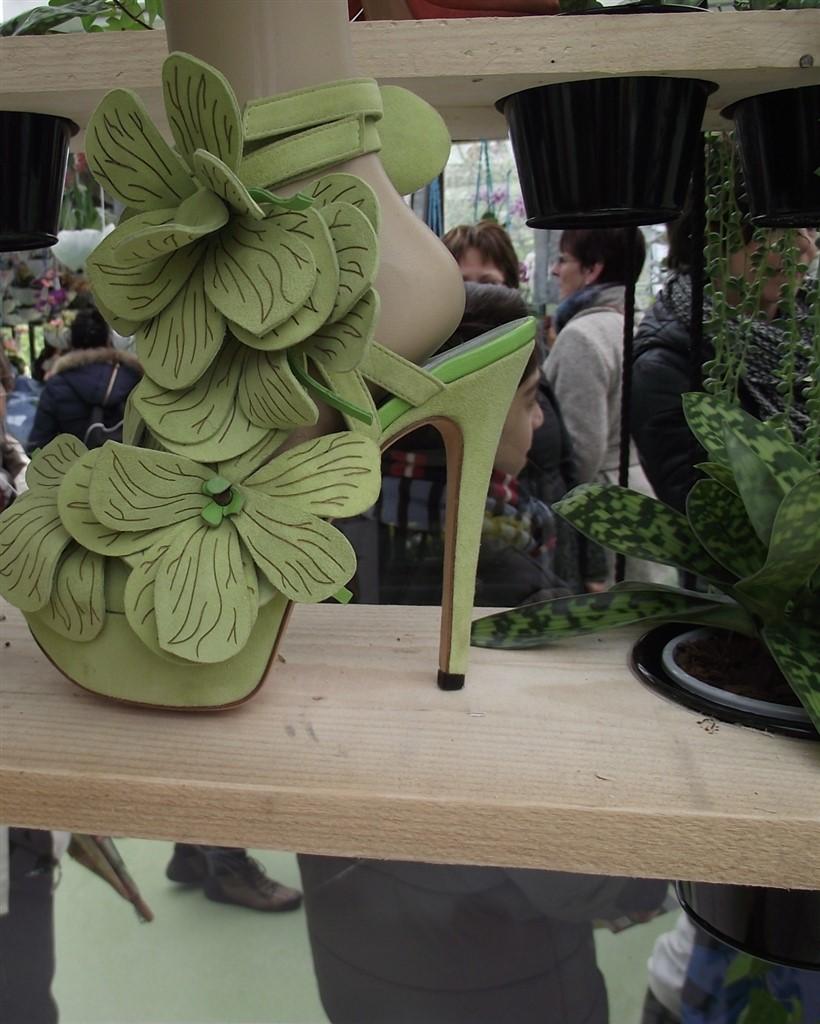 Keukenhof Leather flower shoes