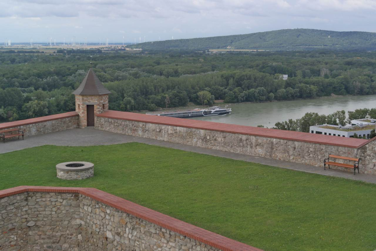 view from Bratislava castle