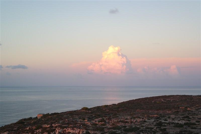 observing a mediterranean sunset