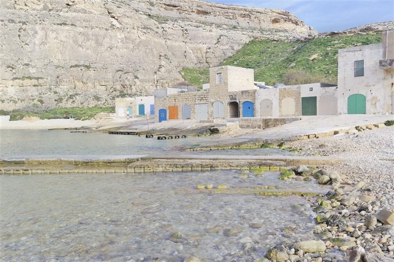 boat houses Gozo