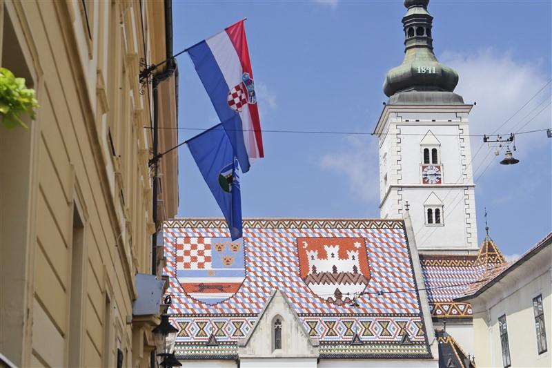 Zagreb Parliament and church