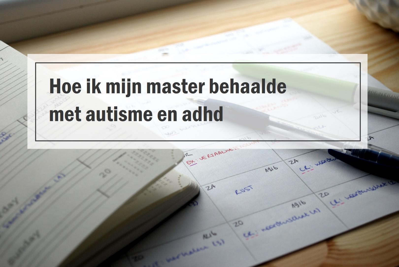 Studeren met autisme en adhd