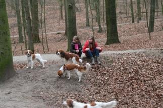 Leentje, Simone en Quinty VHNK wandeling 2013
