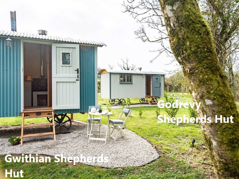 Shepherds Huts in Nanpusker, Hayle, Cornwall - self contained holidays lets