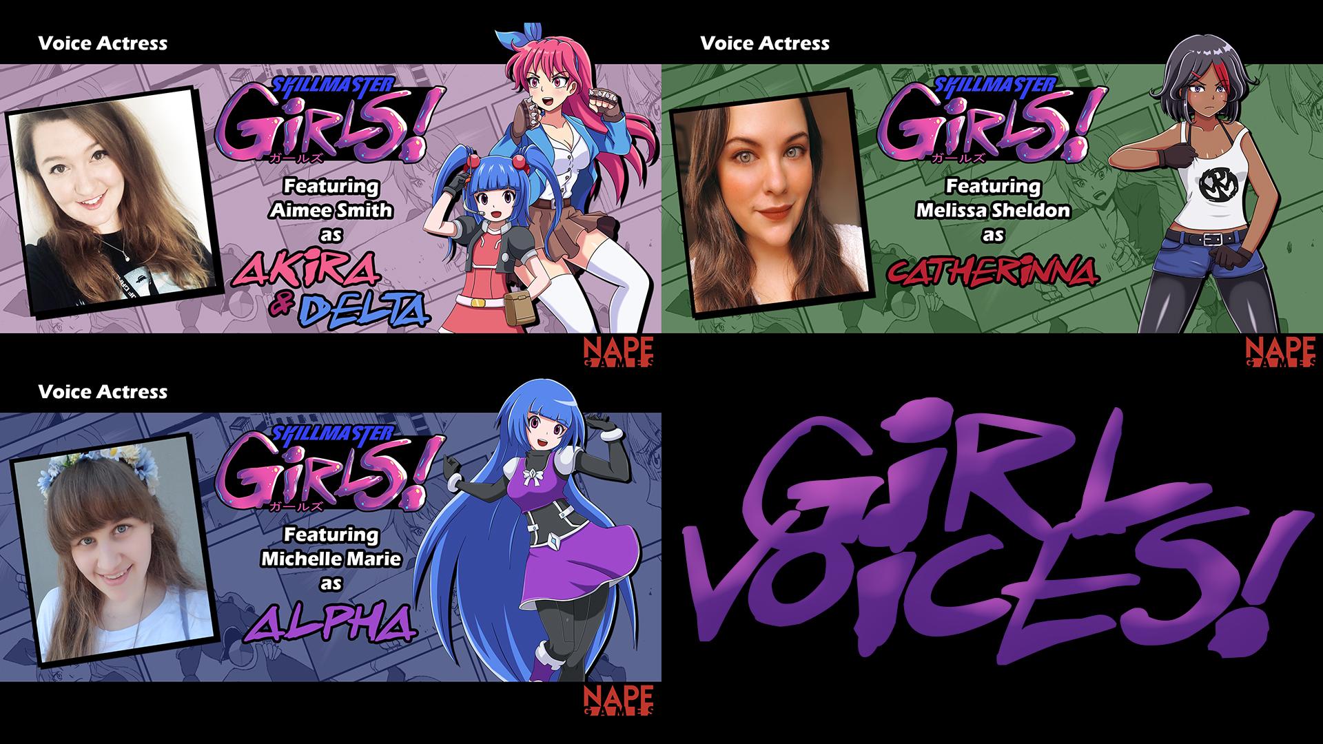 The voices behind Skillmaster Girls part 1