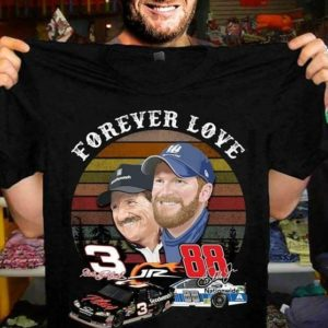 Nascar Car Racing Dale Earnhardt And Dale Earnhardt Jr. T-Shirt
