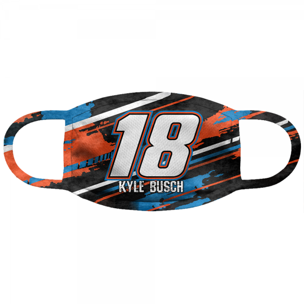 Kyle Busch #18 Anti Pollution Face Mask