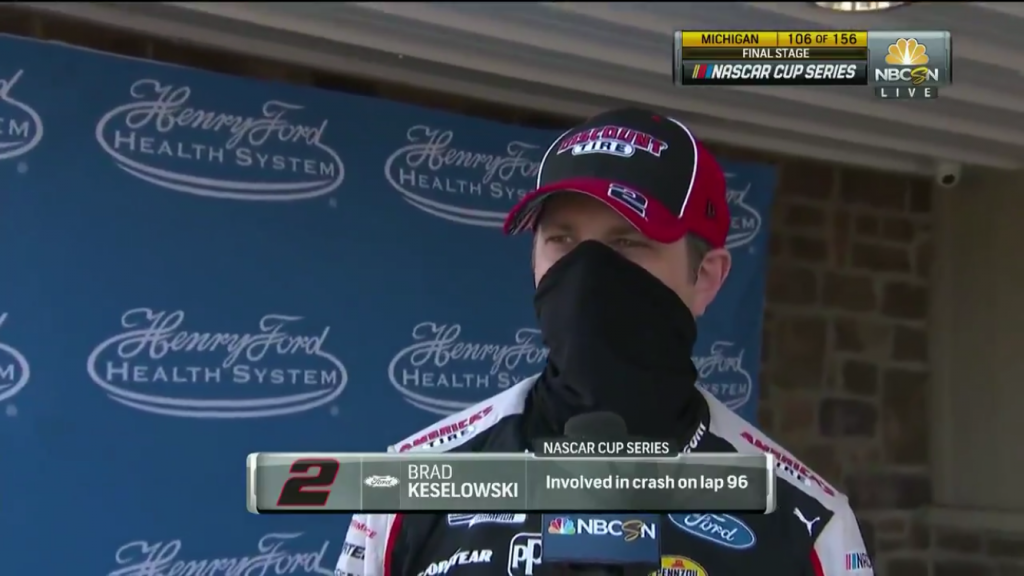 """Brad Keselowski After taking out Blaney: """"I hate it for him. He didn't deserve that"""""""