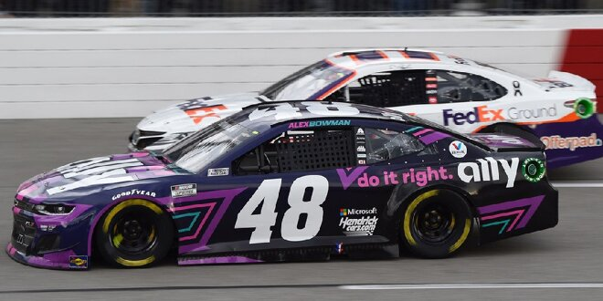 Denny Hamlin says he'd rather be where he is than where Alex Bowman is