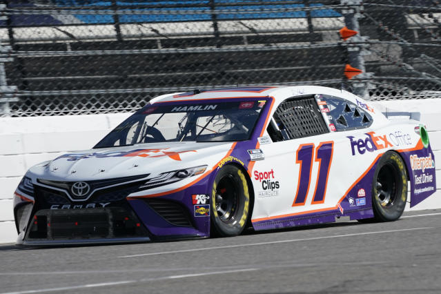 """""""There's just nothing I could have done"""" - Denny Hamlin after losing late lead to Truex Jr"""