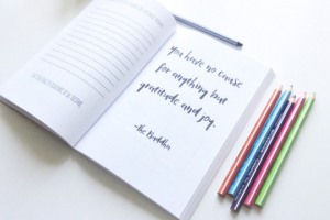 gratitude journal with prompts