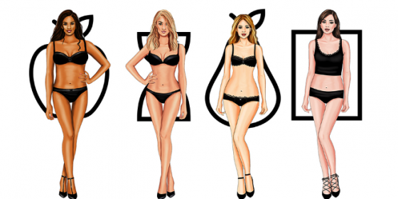 the image shows the five body shapes,