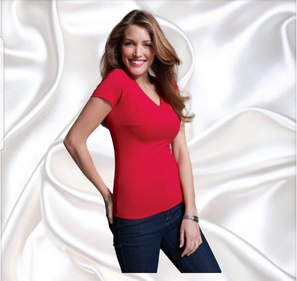 V-neck top for busty ladies