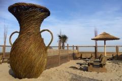 3 m hoge vaas voor strandbar