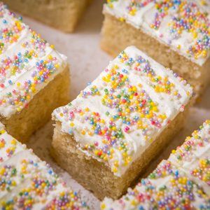 Vanilla and sprinkles sponge cake